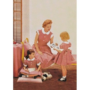 Postcard | 1950s Ad - Like mother, like daughter