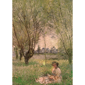 Postcard Tushita Fine Arts | Woman under the willows