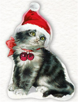 Shaped Postcard Edition Tausendschoen Specials | Christmas Kitten WITH ENVELOPE