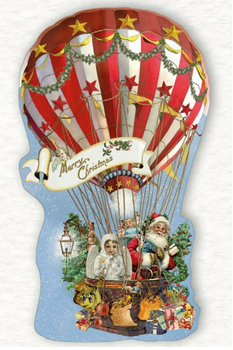 Shaped Postcard Edition Tausendschoen Specials | Christmas Balloon WITH ENVELOPE