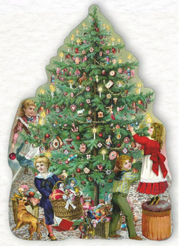 Shaped Postcard Edition Tausendschoen Specials   Christmas Tree WITH ENVELOPE