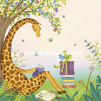 Tatjana Heimler Postcard | Giraffe with book