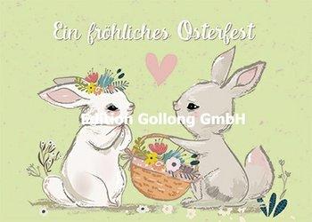 Shutterstock - Elena Barenbaum Postcard   Fröhliches Osterfest (Hasen)