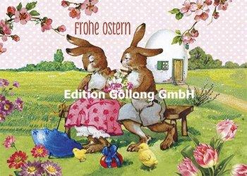 Carola Pabst Postcard   Frohe Ostern (Vintage Hasenpaar)
