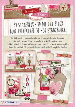 Studio Light A4 Die Cut Block | Loving Hearts
