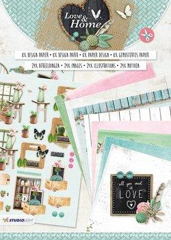Studio Light A4 Die Cut Block | Love & Home