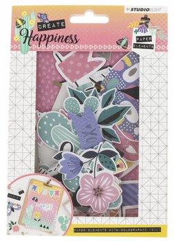 Studio Light Create Happiness Paper Elements Die Cut Paper Set