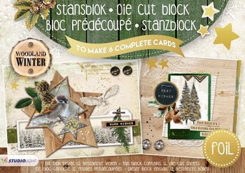 Studio Light A5 Die Cut Block | Woodland Winter