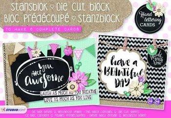 Studio Light A5 Die Cut Block | Handlettering Cards