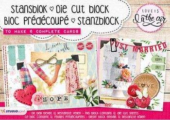 Studio Light A5 Die Cut Block   Love is in the air