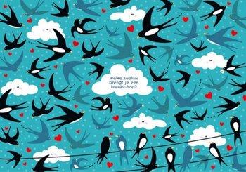 Lali Postcard   Zoekopdracht Welke zwaluw brengt je een boodschap?