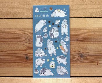 Machiko Bunny Stickers (Starry Night)