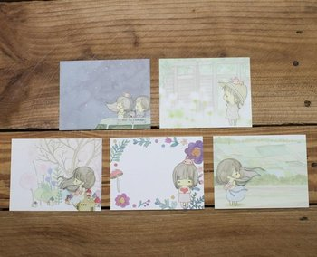 Amy and Tim Memo Notepaper Set (Starry Sky)