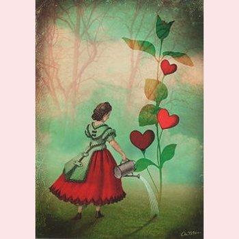 Postcard Catrin Welz-Stein - The seeds of love