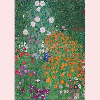 Postcard Gustav Klimt - Flower garden (detail)
