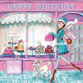 Cartita Design Postcard | Happy Birthday (Vrouw met poedel)