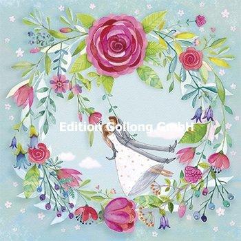 Mila Marquis Postcard | Pasgetrouwden op een schommel