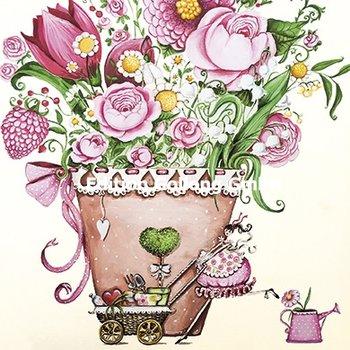 Sabina Comizzi Postcard   Bunch of flowers