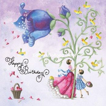 Nina Chen Postcard | Happy Birthday (Figuren und Glocke)
