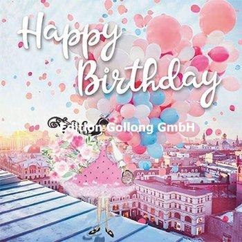 Sabina Comizzi Postcard | Happy Birthday (Vrouw met ballonnen)