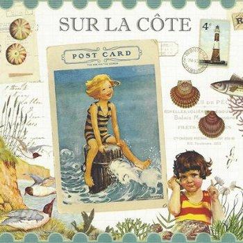 Gwenaëlle Trolez Créations Square Postcard   Sur la cote