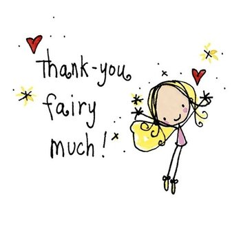 Juicy Lucy Designs Greeting Card - Thanks Fairy Much