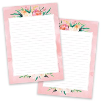 A5 Pink Flower Notepad - Double Sided