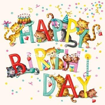 Nina Chen Postcard | Happy birthday (Cats)