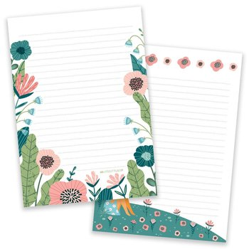 PRE-ORDER - A5 Flower Field Notepad - Double Sided