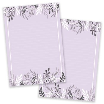 PRE-ORDER - A5 Foliage Purple Notepad - Double Sided