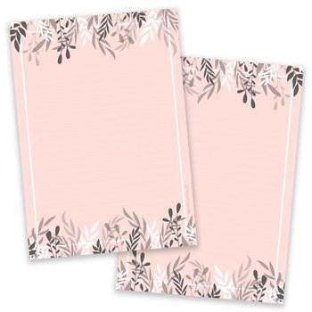 PRE-ORDER - A5 Foliage Salmon Notepad - Double Sided