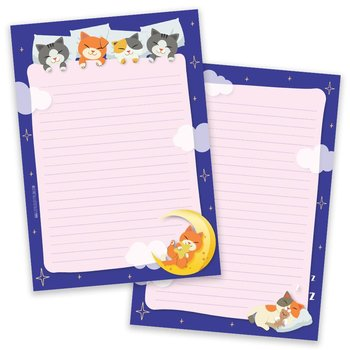 PRE-ORDER - A5 Sleepy Cats Notepad - Double Sided