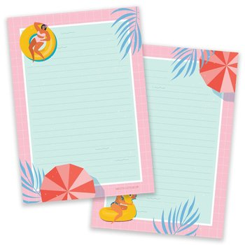 PRE-ORDER - A5 Pool Party Notepad - Double Sided