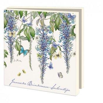 Kaartenmapje met enveloppen vierkant: Flowers, Janneke Brinkman-Salentijn