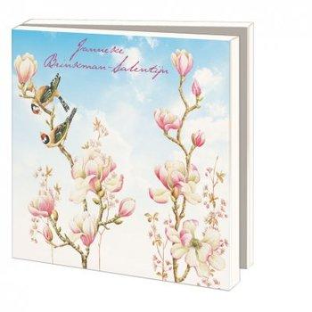 Kaartenmapje met enveloppen vierkant: Vogels, vlinders en bloemen, Janneke Brinkman-Salentijn