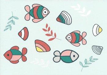 Nijntje Miffy Postcards   Calm Coast - Vissen