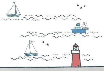 Nijntje Miffy Postcards   Calm Coast - Vuurtoren