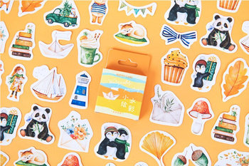 Sticker Flakes Box   Watercolour Painting