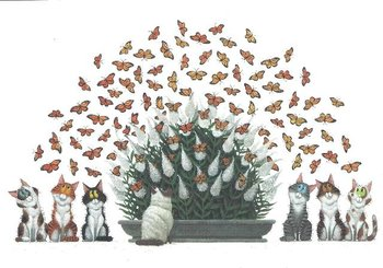 Gallery Cards Postcard   Illustratie uit