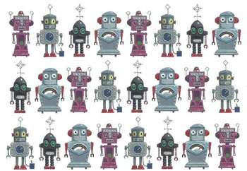 Gallery Cards Postcard   Robots - Leo Timmers
