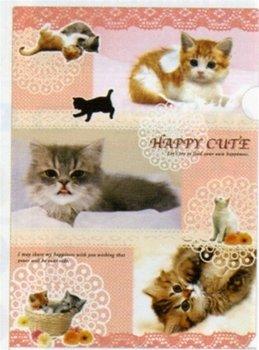 San-X Happy Cute Cat A4 Plastic File Folder