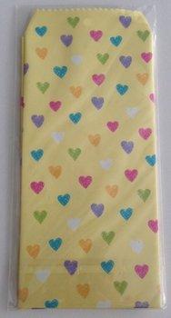 Natural Pattern Envelopes Hearts | Yellow