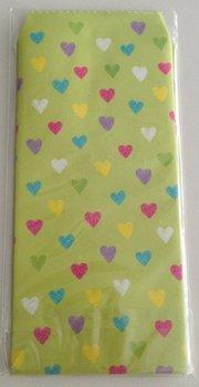 Natural Pattern Envelopes Hearts | Green