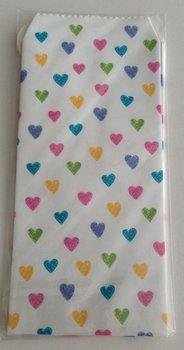 Natural Pattern Envelopes Hearts | White