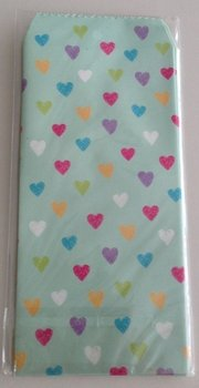 Natural Pattern Envelopes Hearts | Turqouise