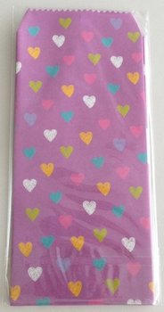 Natural Pattern Envelopes Hearts | Purple