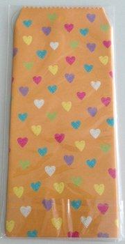 Natural Pattern Envelopes Hearts | Orange