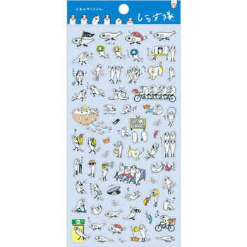 San-X Shirasutai Fish Seal Sticker | Blue