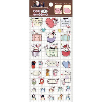 San-X Sentimental Circus Clear Seal Memo Sticker
