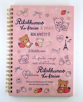 San-X Rilakkuma Ring Binder Notebook | Rilakkuma La Fraise